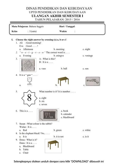 Disini akan dibahas beberapa contoh contoh soal pkk kelas 12 beserta kunci jawabannya. Download Soal UAS Ganjil Bahasa Inggris Kelas 1 Semester 1 ...