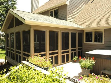 Screened Patio Designs by Screened In Decks Screen Porch Urbandale Outside View