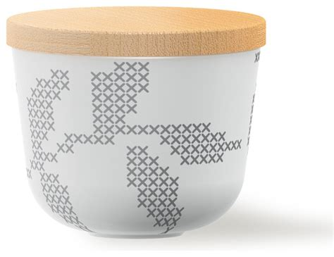 containers for kitchen cabinets sugar bowl with lid grey leaves contemporary sugar 5683