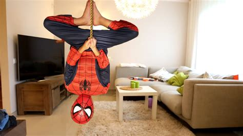 spider man real life costume youtube