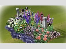 Colorful Cottage Garden Plan