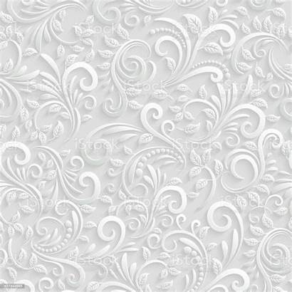 Seamless Floral Background 3d Vector Pattern Backgrounds