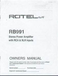 Rotel Stereo Amplifier Rb