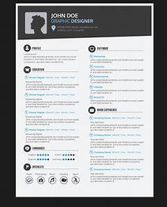 Graphic Designer Resume CV Vector