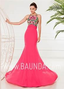 Baunda Vestido de fiesta largo 2018 XM 4875 fucsia Baunda Madrid y tienda online