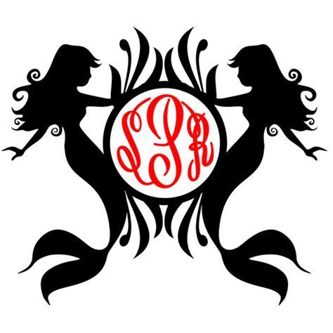 mermaid monogram cuttable svg frames