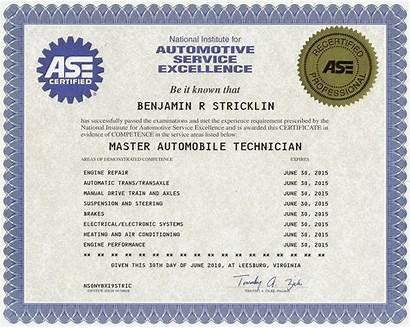 Ase Master Bj Certificate Repair Vegas Service