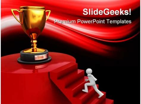 winner trophy competition powerpoint templates