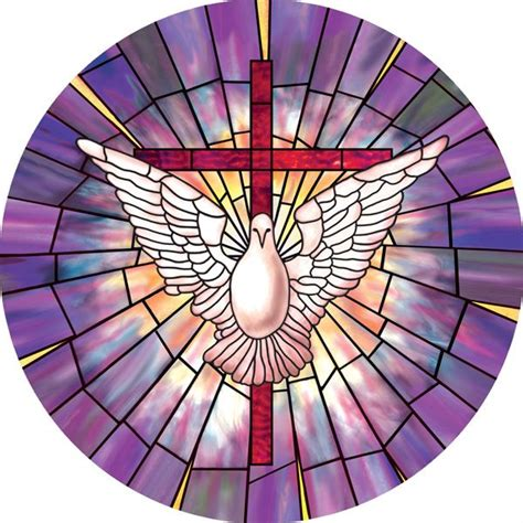 stained glass window radiant dove decorative stained glass window cling