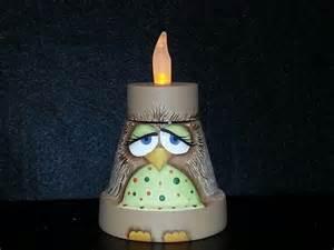 Owl Painted Terracotta Pot