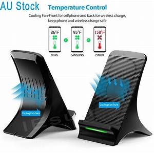 Iphone 8 Plus Wireless Charging : qi wireless charger charging stand dock cooling fan for ~ Jslefanu.com Haus und Dekorationen