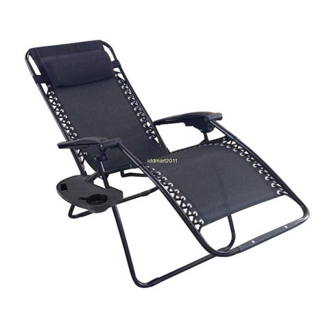 Zero Gravity Chair With Drink Holder by Reclining Chair Zero Gravity Seat Cup Holder Outdoor Pool