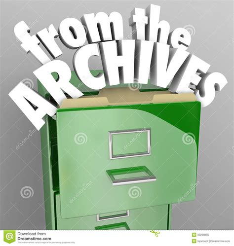 from the archives file cabinet retrieve historical records royalty free stock photo image