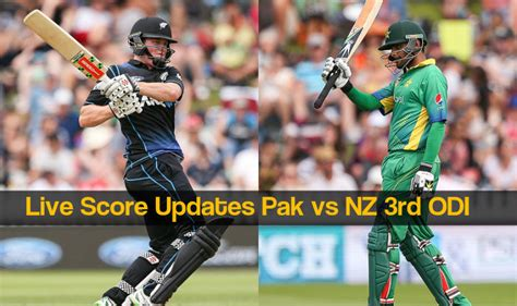 Nz Won By 3 Wkts  Live Cricket Score Updates Pakistan Vs