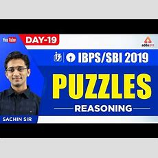 Ibpssbi Po 2019  Puzzles  Reasoning  Day 19  By Sachin Sir  1130 Am Youtube
