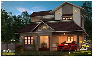 budget, friendly, 1645, sq, ft, kerala, home, design, and, plan