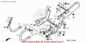 Honda Nt650v Deauville 1999  X  European Direct Sales    25k Exhaust Muffler