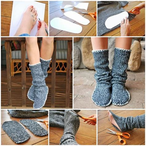 upcycle  sweater  slipper boots