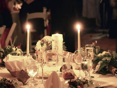Flower And Candle Wedding Centerpieces Centerpieces With