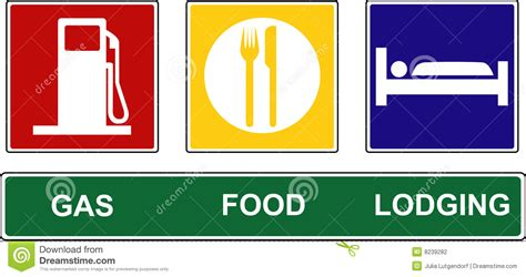 cuisine plaque gas food lodging signs stock vector image of vector