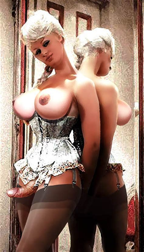 A Touch Of Glass In Gallery Shemale Pin Up Art 7