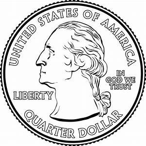 Portrait on a Quarter | ClipArt ETC