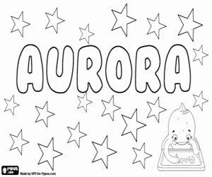 aurora nombre latino  colorear pintar  imprimir