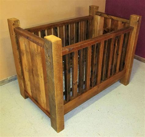 rustic baby cribs rustic barn wood baby crib with thick posts barn wood
