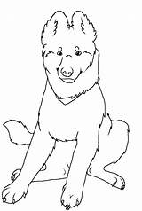 Shepherd German Coloring Pages Dog Puppy Wolf Sitting Lineart Printable Shepherds Sheet Deviantart Template sketch template