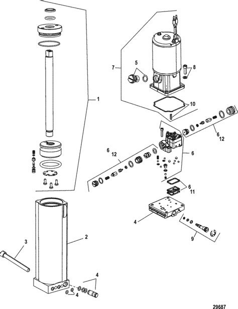 mercury marine trim tilt lift systems components