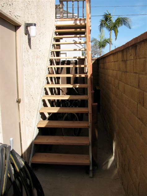 stairs exterior stair roof outdoor diy kits basement deck stringers loft attic fast standing build steel storage attaching kit prefabricated