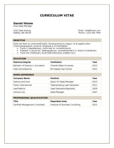 Traditional Resume Template Free by Traditional Table Port Productivity Resume Template