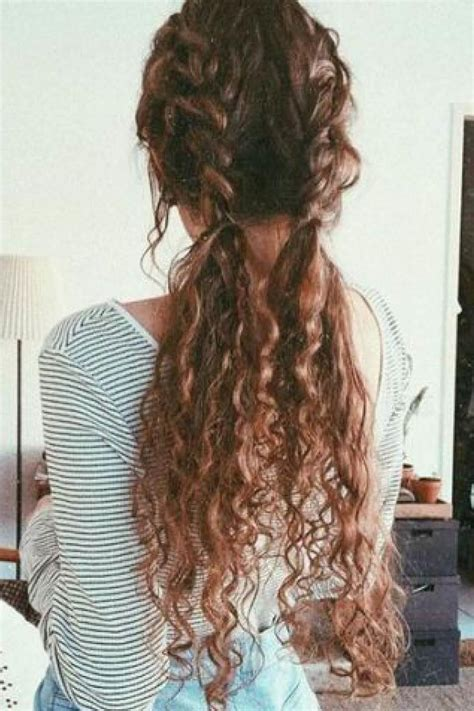 trenza  pelo suelto rizado cortes de pelo largos