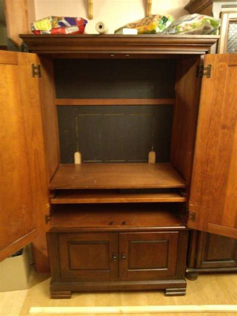 repurpose tv cabinet repurposed tv armoire to pantry hometalk