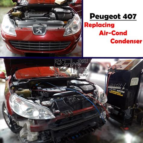 normal air cond service replacing condenser  peugeot