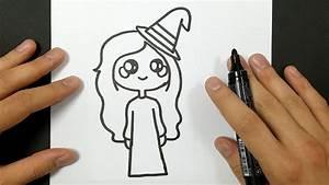 Dessin Facile Halloween : comment dessiner une sorci re kawaii halloween tuto ~ Melissatoandfro.com Idées de Décoration