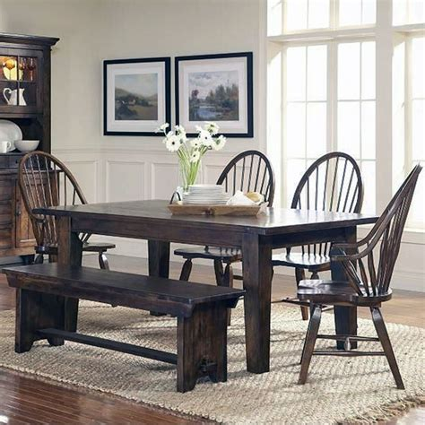 bench style table and chairs dining room awesome 2017 country style dining room sets