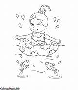 Swimming Coloring Sea Fish Pages Summer Coloringpages Site Tutorial Posters sketch template
