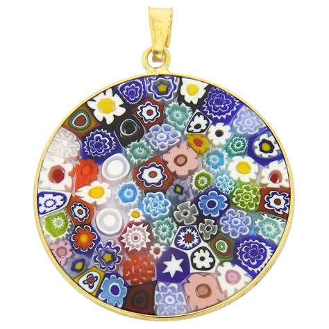 Mille Fiori by Millefiori Pendants Murano Glass And Murano Glass