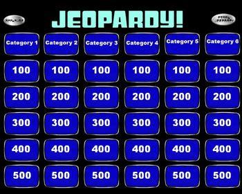 jeopardy template slides jeopardy powerpoint smartboard template by mrwatts tpt