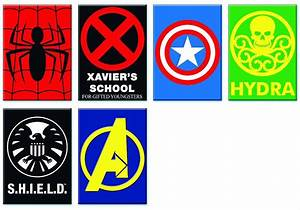 Buy Novelties Comic Material MARVEL HEROES LOGOS 6PC