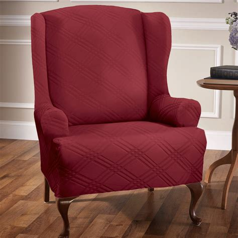 wing chair slipcovers stretch wing chair slipcovers