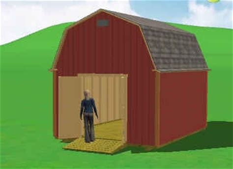 12x16 Gambrel Storage Shed Plans Free by Mirrasheds My Shed Plans