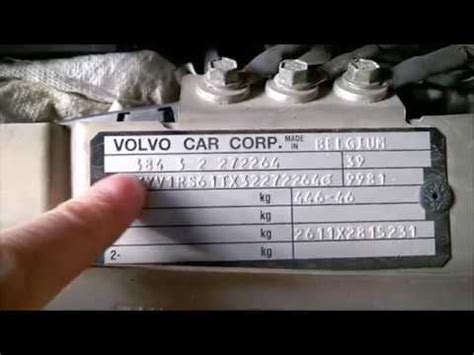 volvo s60 v70 year and color code plates 2001 2009 youtube