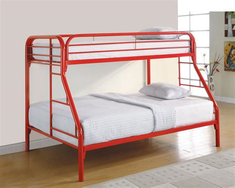 Cs258 Red Twin Size Bed 2258r Coaster Furniture Kids
