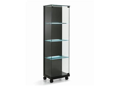 frosted glass cabinet vitrina de cristal con ruedas medora by tonelli design