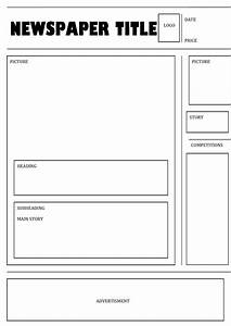 newspaper template 1 kate39s blog With blank newspaper template for word