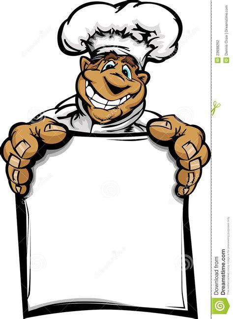 carte de sourire de fixation de chef de cuisine de dessin
