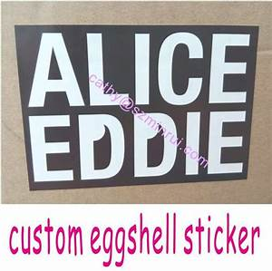 Stronger adhesive printable custom individual eggshell for Custom individual stickers