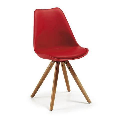 chaise tulipe pas cher table tulipe 120 cm et 4 chaises clubber rouges achat